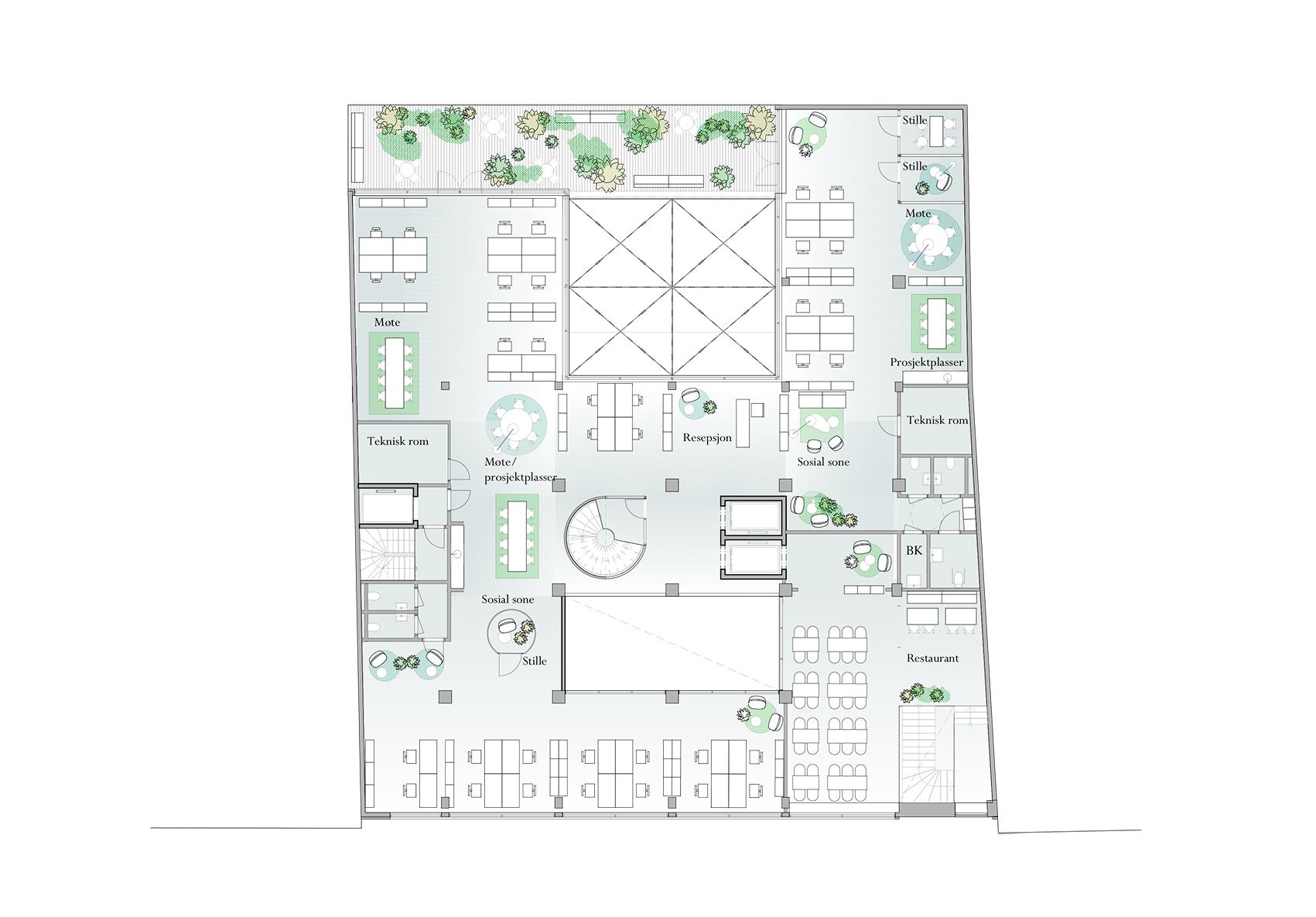 Plan 2 - kontor
