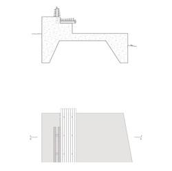 detalj benk avstigningsplatå