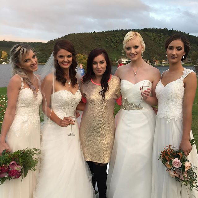 Me with the beautiful models from todays bridal shoot