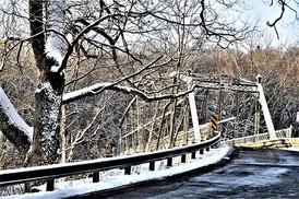 Winter Bridge Collinsville CT
