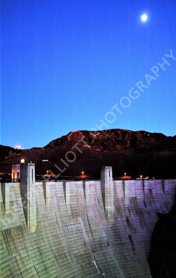 Hoover Dam Moonlight