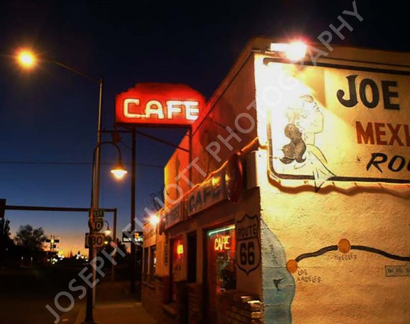 Route 66 Cafe at Night