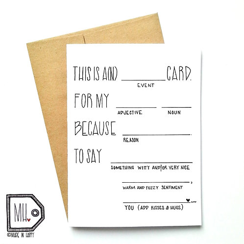 This is a card