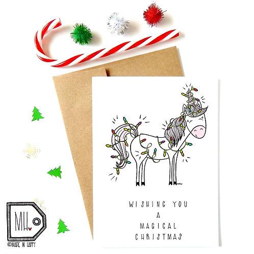 Unicorn magical Christmas