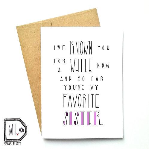 Favorite sister