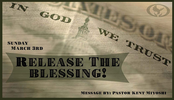 RELEASE THE BLESSING!