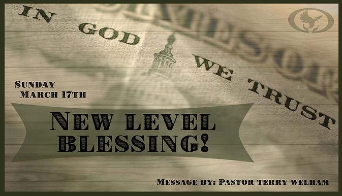 NEW LEVEL BLESSING!