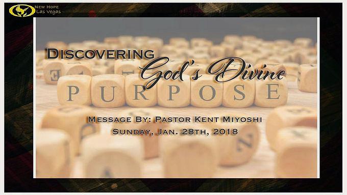 DISCOVERING GOD'S DIVINE PURPOSE