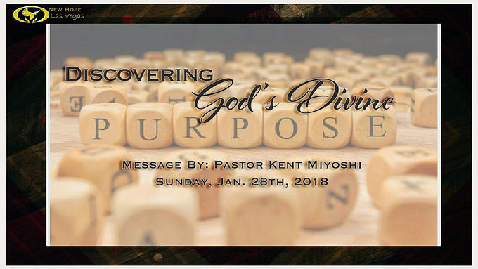 DISCOVERING GOD'S DIVINE PURPOSE