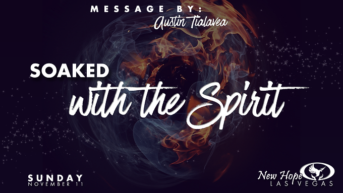 SOAKED WITH THE SPIRIT