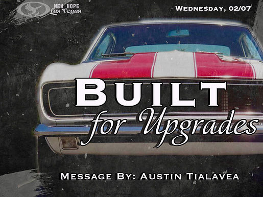 BUILT FOR UPGRADES
