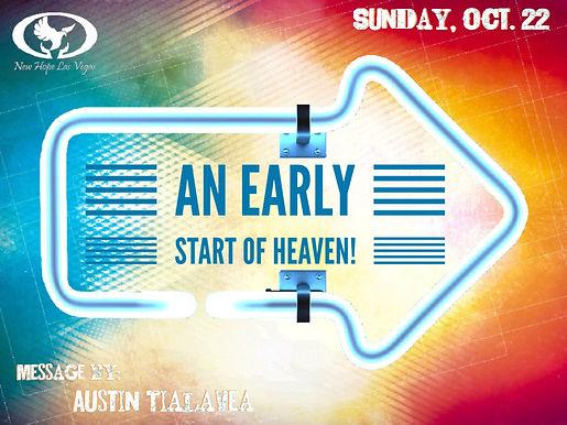 AN EARLY START OF HEAVEN!