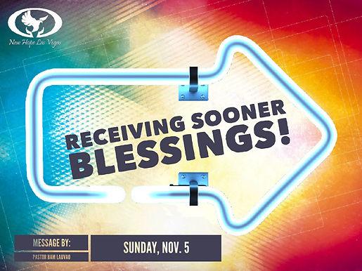 RECEIVING SOONER BLESSINGS!