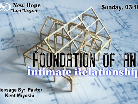FOUNDATION OF AN INTIMATE RELATIONSHIP