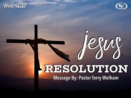 JESUS, RESOLUTION