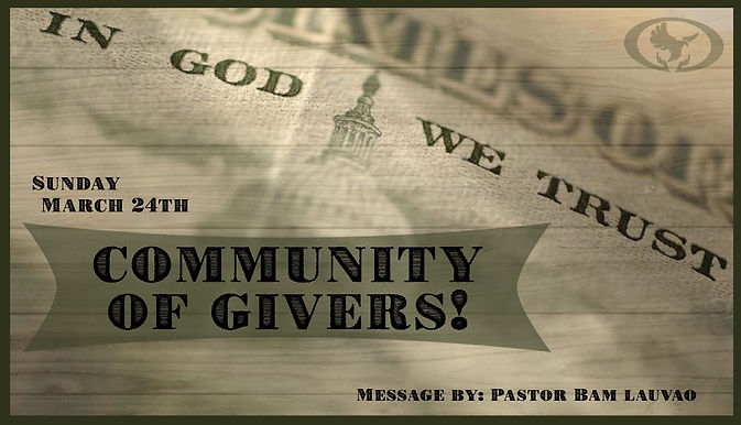 COMMUNITY OF GIVERS!