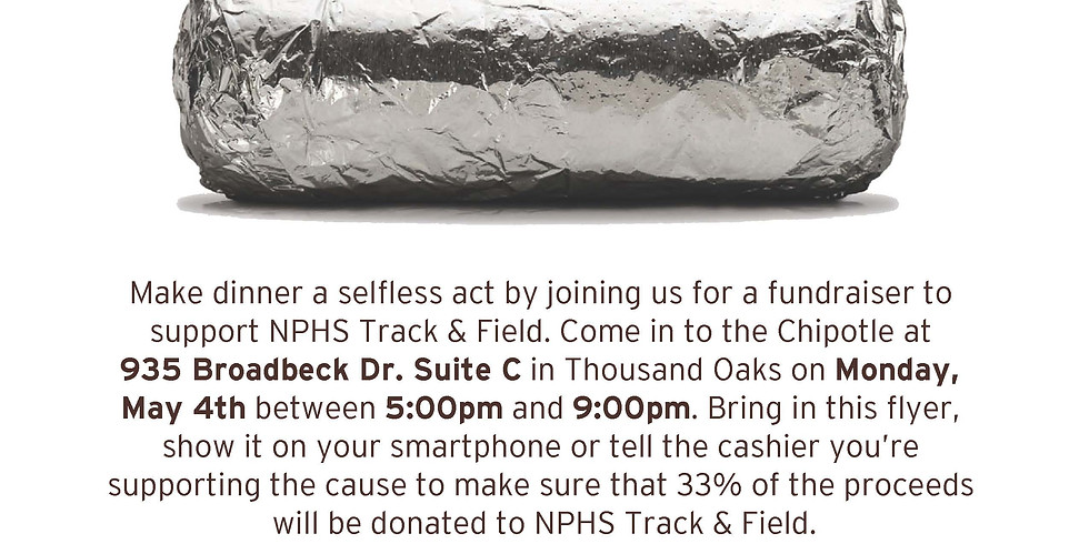 CANCELLED: Chipotle Fundraiser