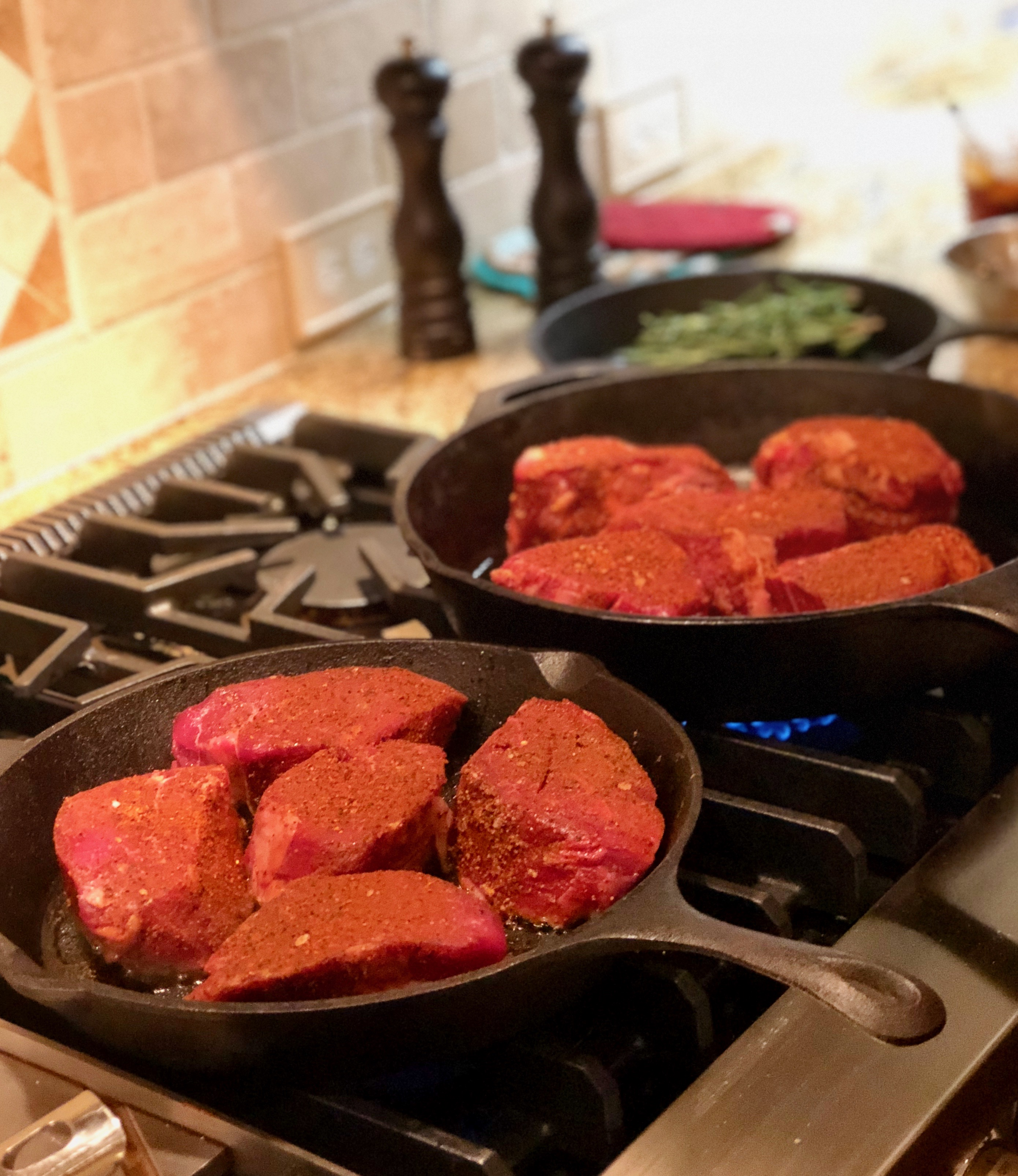filets in cast iron