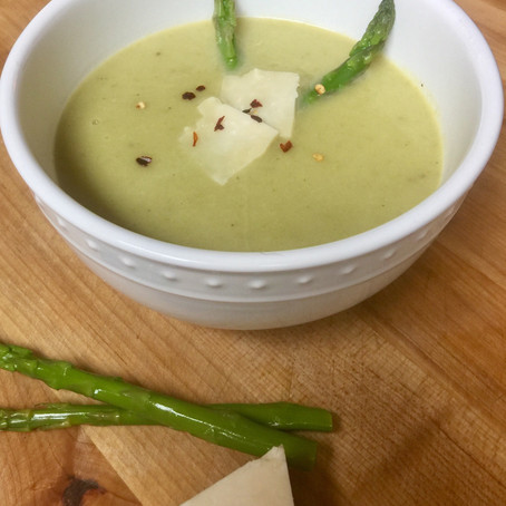 Spicy Asparagus and Parsnip Soup