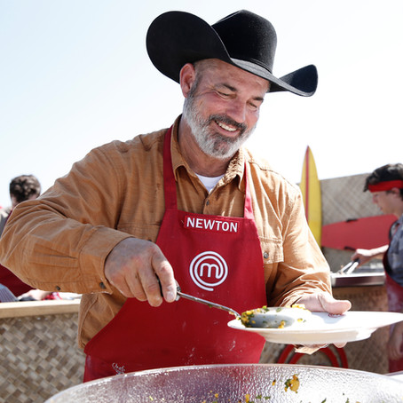 Next on MasterChef for Cowboy Chef Newton