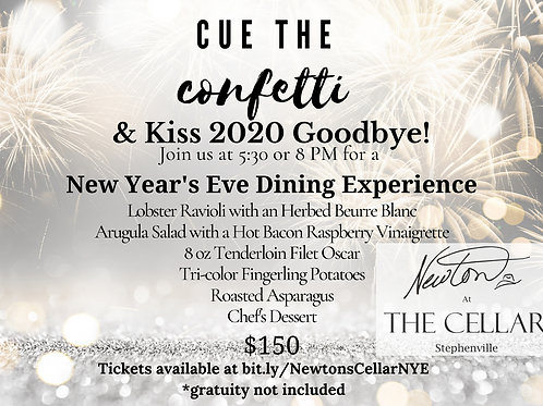 Kiss 2020 Goodbye!  A 4-course New Year's Eve Dining Experience by