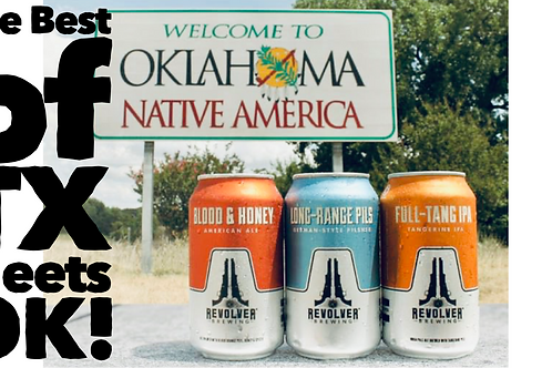 The Best of Texas Meets OK! 5-course Pairing with Revolver Beer in Oklahoma City