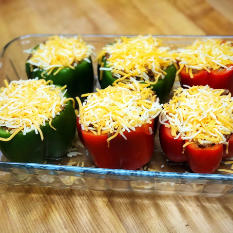 STUFFED PEPPERS WITH ANCHO CHILE TOMATO SAUCE