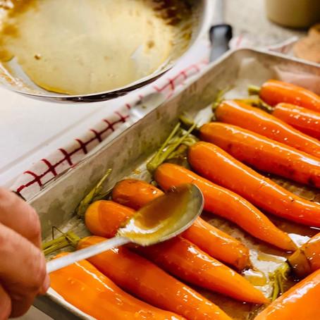 Bourbon/Whisky Glazed Carrots