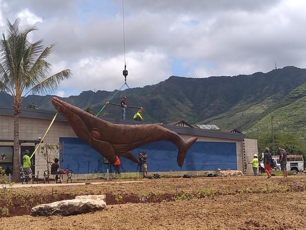 Installing Whale Artwork