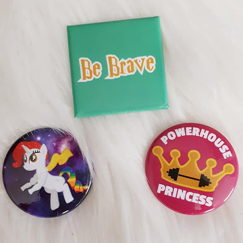 Set of 3 BE BRAVE Pins