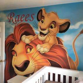 Lion King Domestic Print Wallpaper