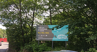 Leeds Clean Air Outdoor Signage