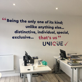 Unique Foaming Letter Wall Art