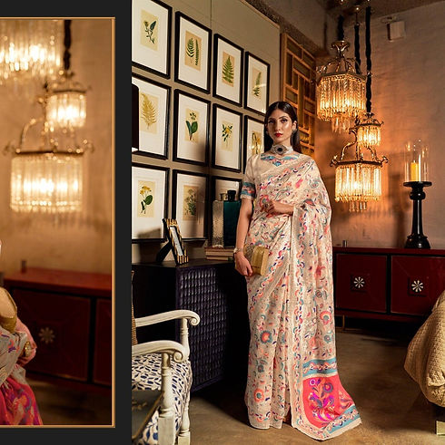 Our one of the best selling Kashmiri Saree