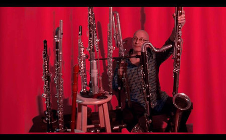 Bob Magnuson, surrounded by all of his i
