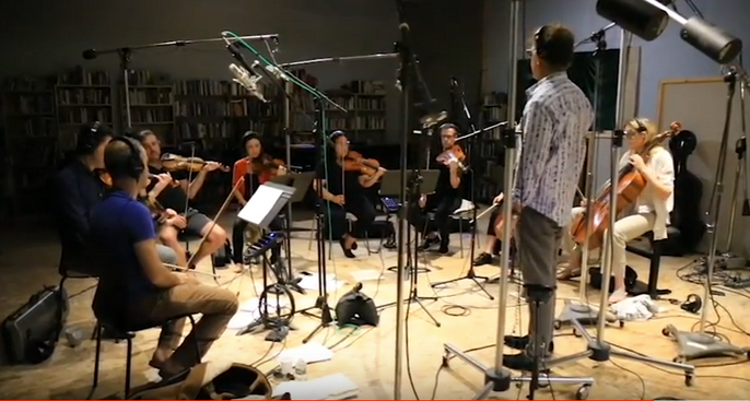 With the String session players.png