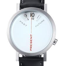 Past, Present, Future Watch white design