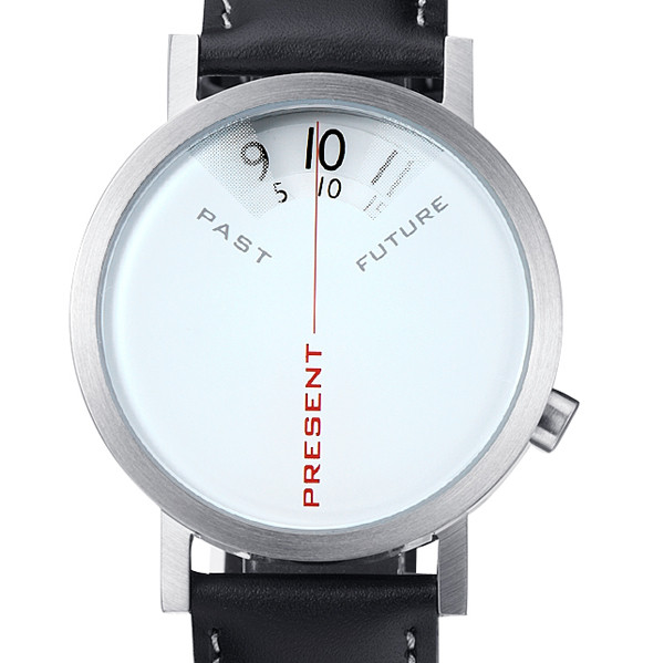Past, Present, Future Watch white design