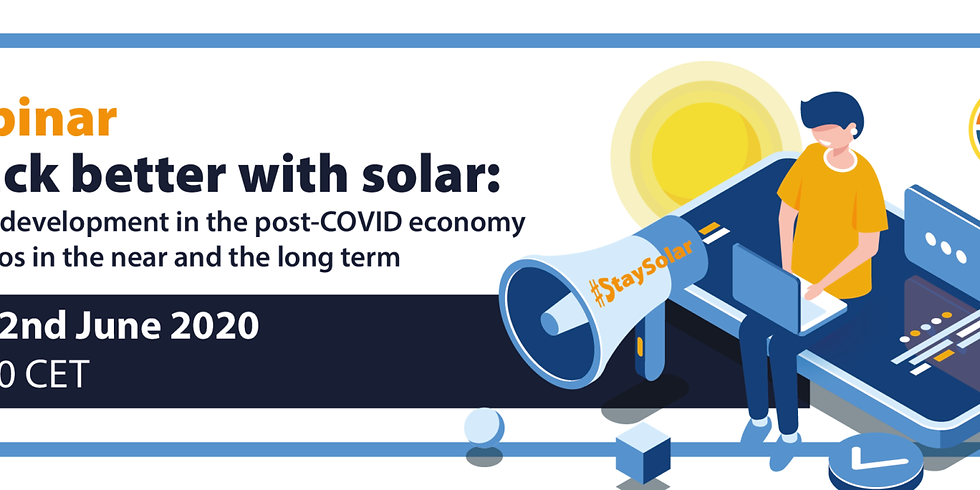 Build back better with solar: accelerating PV development in the post-COVID economy – possible scenarios in the near and