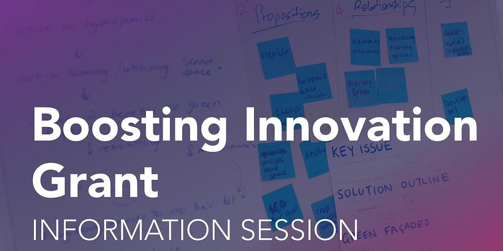 Boosting Innovation Grant: Information Session