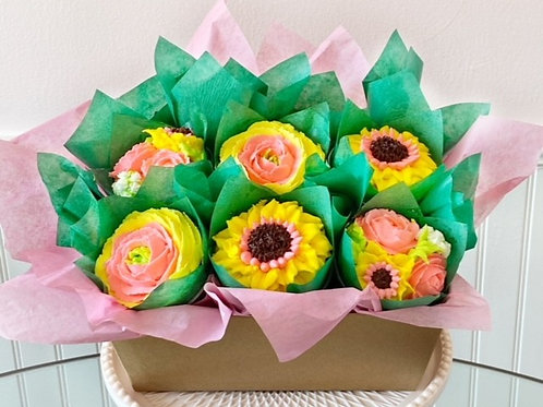 Sunny Day Cupcake Bouquet