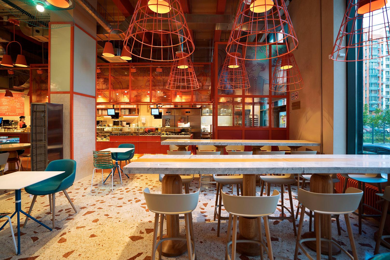 кулинарная мануфактура, братья караваевы, террацо москва, дизайн ресторана москва, кристина попова дизайнер