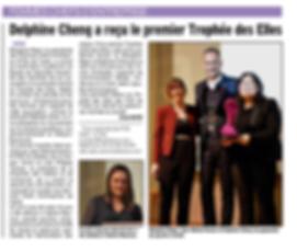 FCE Trophée des Elles - Delphine CHENG - Article Dauphiné