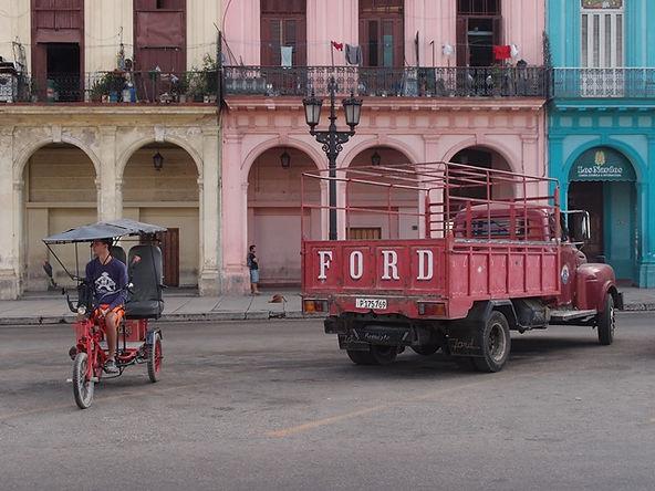 La havana Street, Cuba, Blue Sky and Wine