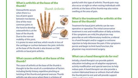 Thumb (CMC) Arthritis
