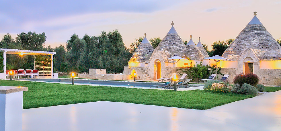 Magic sunset Trulli