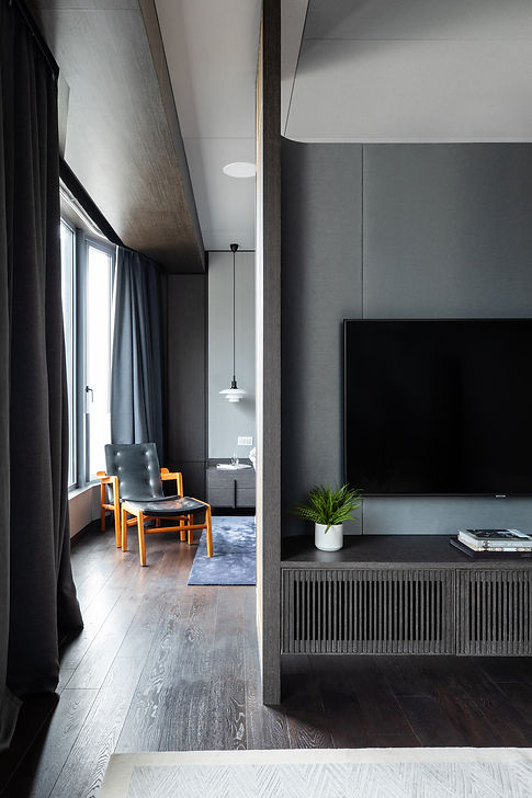 lot-architects-mount-nicholson-collectors-stage-luxury-residential-interior-design-hong-kong 香港住宅室内设计公司 豪宅 聂歌信山 Nordic Style Japanese Bedroom TV wall