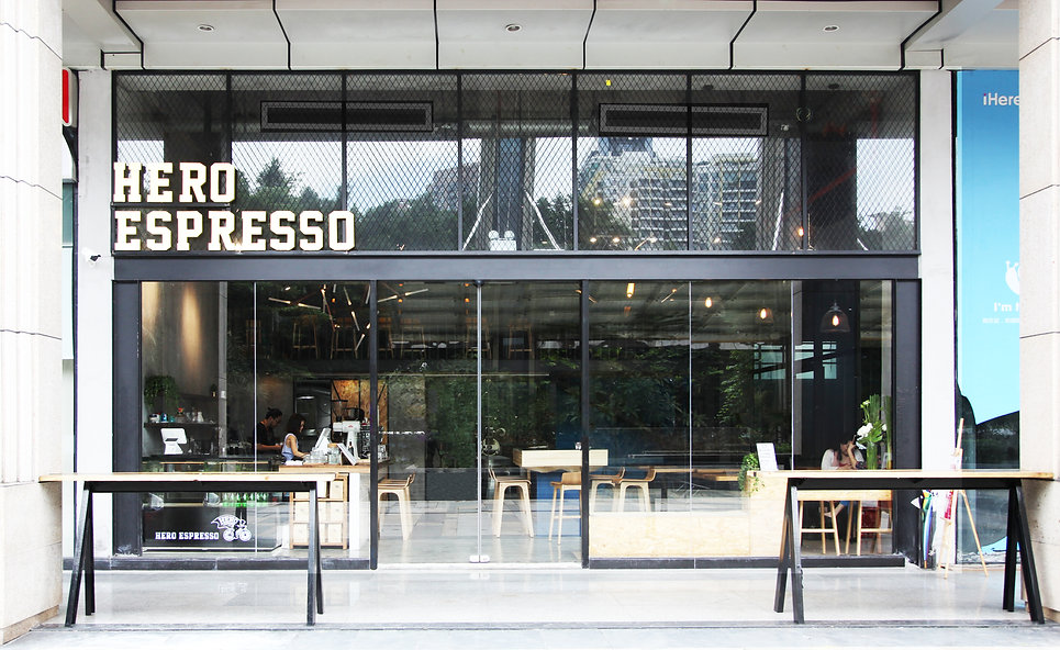 hero espresso cafe coffee shop shenzhen interior design and build hong kong company designer F&B restaurant studio lot architects 咖啡厅 餐饮 餐厅 深圳 香港室内设计公司 店铺 临街店 商场 retail