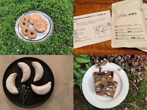 5月のスペルト小麦のお菓子箱+イリガン珈琲店ドリップバック入り