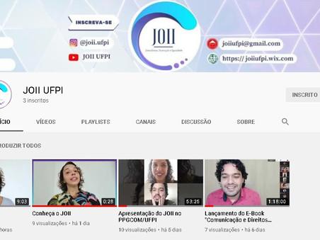 JOII UFPI agora conta com canal no YouTube. Assista e se inscreva!